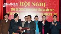 Ký kết hợp tác giữa Thường trực Ủy ban MTTQ và Ban Dân tộc tỉnh