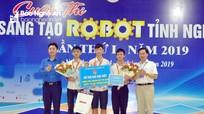 Đội thi Robot đến từ Yên Thành giành giải Đặc biệt, được tài trợ tham gia vòng thi quốc tế