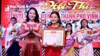 Nữ sinh xinh đẹp giành giải Nhất hội thi 'Thuyết minh viên nhí' của Nghệ An