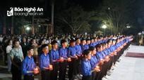 Trang trọng lễ thắp nến tri ân tại Nghĩa trang Liệt sỹ Quốc tế Việt - Lào