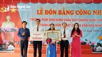 Trường Mầm non Hưng Châu (Hưng Nguyên) đón Bằng công nhận đạt chuẩn Quốc gia mức độ 2