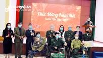 Phó Chủ tịch HĐND tỉnh chúc Tết các trung tâm, khu điều dưỡng thương binh và gia đình chính sách