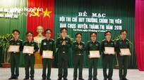 Bế mạc Hội thi Chỉ huy trưởng, Chính trị viên Ban CHQS huyện, thành, thị năm 2018  