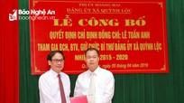 Thị xã Hoàng Mai: Trao quyết định điều động cán bộ về làm bí thư xã, phường