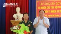 Trao Quyết định bổ nhiệm Chủ tịch Hội Cựu chiến binh huyện Tân Kỳ