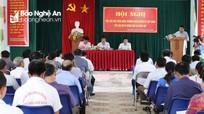 Lãnh đạo huyện Quỳ Châu đối thoại với người dân xã Châu Hội