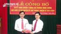 Công bố quyết định chuẩn y Bí thư Huyện ủy Quế Phong