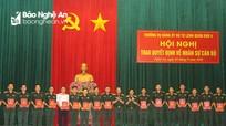 Bộ Tư lệnh Quân khu 4 trao Quyết định điều động, bổ nhiệm cán bộ cấp trung, sư đoàn
