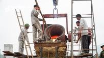 Tượng An Dương Vương được đúc bằng đồng, nặng 1 tấn