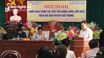 Triển khai việc giải tỏa hành lang lưới điện trên địa bàn Quế Phong