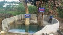 Đồng bào Thái ở làng Cay nhận mó nước sinh hoạt