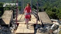 Cầu treo Chôm Lôm được nối lại, hơn 2.500 người dân đã có thể qua sông