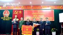 Viện Kiểm sát nhân dân Nghệ An đón nhận Cờ thi đua của Chính phủ