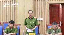 Thượng tướng Lê Quý Vương làm việc với lãnh đạo tỉnh Nghệ An