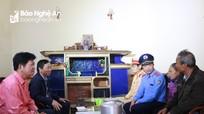 Sở Giao thông Vận tải chia sẻ nỗi đau với 5 gia đình có nạn nhân bị TNGT tại Đô Lương