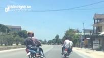 Cảnh sát triệu tập nhóm thanh niên lạng lách trên quốc lộ 1A qua Nghệ An