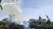 Công ty CP Công viên cây xanh cần chấm dứt việc đốt rác giữa trung tâm thành phố