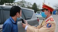 Nghệ An: 13 trường hợp vi phạm nồng độ cồn bị xử phạt trong 6 ngày nghỉ Tết
