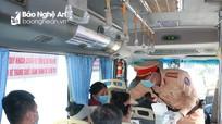 Cảnh sát giao thông Nghệ An xử lý các hành vi vi phạm phòng chống dịch Covid-19