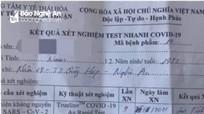 Nghệ An tiếp tục phát hiện lái xe sửa giấy test nhanh để lưu thông trên đường