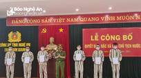 Công bố Quyết định đặc xá của Chủ tịch nước cho 6 phạm nhân thi hành án tại Nghệ An