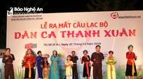 Ra mắt Câu lạc bộ dân ca Thanh Xuân (Thanh Chương) ở miền Nam