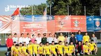 Đội bóng Hội đồng hương Nghệ An giành Á quân tại Giải bóng đá Cộng đồng ở Liên bang Nga