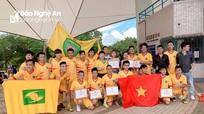 Đội bóng Hội đồng hương Nghệ An giành chức Vô địch giải GOW tại Đài Loan