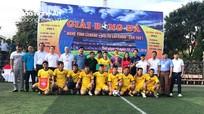 """9 đội bóng tranh tài tại giải """"Nghệ Tĩnh League - Hội tụ Lai Châu""""."""