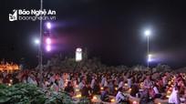Đêm hoa đăng kính mừng lễ Phật Thành Đạo ở chùa Đồng Tương