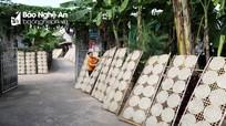 Làng bánh đa sắn xứ Nghệ vào vụ Tết