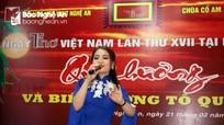 Ngày thơ Việt Nam lần thứ 17 tại Nghệ An