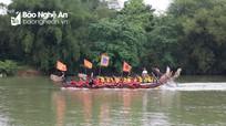 Náo nức hội đua thuyền trên sông Lam