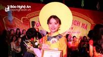 Nữ sinh lớp 12 đạt giải Nhất cuộc thi Nữ sinh thanh lịch Lễ hội Đền Bạch Mã