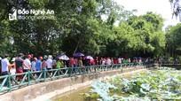 Hàng nghìn du khách về thăm quê Bác trong dịp sinh nhật của Người