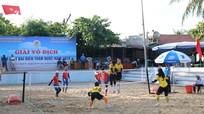 Gần 100 VĐV tranh tài giải Vô địch cầu mây bãi biển toàn quốc do Nghệ An đăng cai
