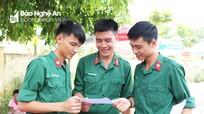 Thí sinh chiến sĩ Quân khu 4 tự tin với bài thi tổ hợp Khoa học Tự nhiên
