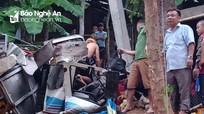 Xe chở bia xuống đèo đâm vào nhà dân, 2 người Nghệ An tử vong tại chỗ
