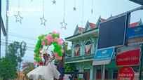 Độc đáo màn rước dâu bằng xe nâng hàng ở Nghệ An