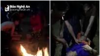 Nghệ An: Dân làng đốt lửa sưởi ấm, cứu sống nam thanh niên rơi xuống sông Lam trong đêm