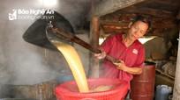 Thơm lừng mùa che mía nấu mật Tết ở Nghệ An