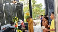Nhiều chùa trên địa bàn Nghệ An tổ chức Lễ cầu siêu cho các Anh hùng liệt sỹ