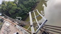Cận cảnh cầu treo sông Giăng sau vụ tai nạn 5 người thiệt mạng