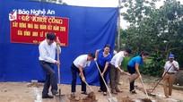 Khởi công nhà đại đoàn kết cho hộ nghèo tại Nghĩa Đàn