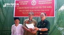 Các địa phương bàn giao nhà tình nghĩa cho cựu chiến binh, hộ nghèo