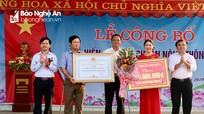 Xã Hiến Sơn (Đô Lương) đón Bằng công nhận đạt chuẩn Nông thôn mới