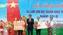 Xã Lam Sơn (Đô Lương) đón Bằng công nhận đạt chuẩn Nông thôn mới