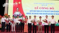 Công bố quyết định thành lập Trung tâm Kiểm soát bệnh tật tỉnh Nghệ An
