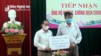 Nhiều tổ chức, nhà hảo tâm ở Nghệ An quyên góp ủng hộ phòng chống dịch Covid-19