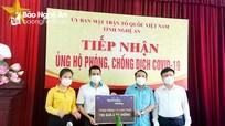 Nghệ An: Hơn 145 tỷ đồng ủng hộ công tác phòng, chống dịch Covid-19